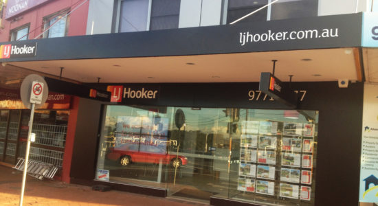 LJ hooker signage restaurant sign by isprint Sydney