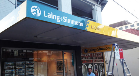 laing and simmons signage restaurant sign by isprint Sydney