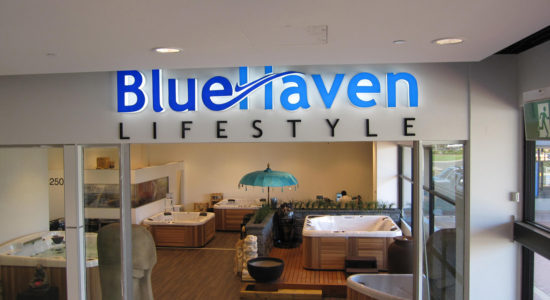blue haven sign by isprint Sydney