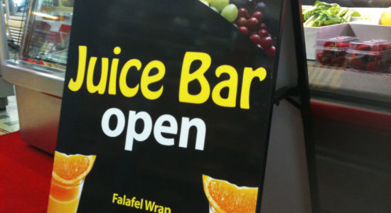 juice bar sign by isprint Sydney