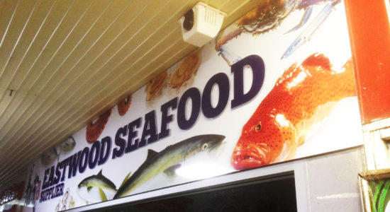 seafood shop sign by isprint Sydney